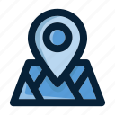 direction, gps, location, map, pin, position, travel icon