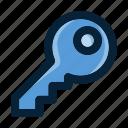 car key, house key, key, lock, safety, security, unlock icon