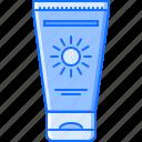 cream, holidays, sun, tan, tour, travel icon