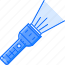camping, flashlight, holidays, light, tour, travel icon