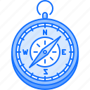 camping, compass, holidays, navigation, tour, travel icon