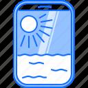airplane, cloud, holidays, porthole, sun, tour, travel icon