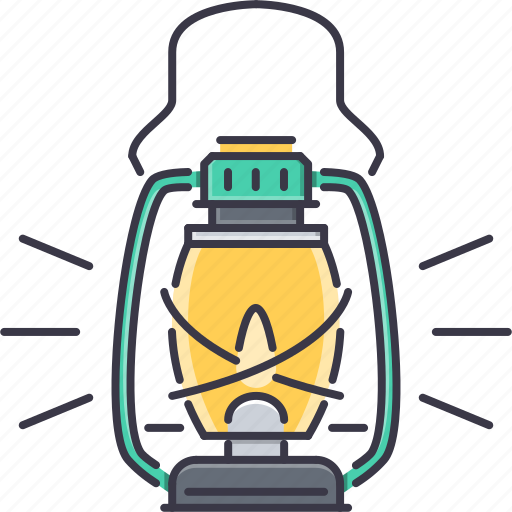 camping, holidays, lamp, light, tour, travel icon