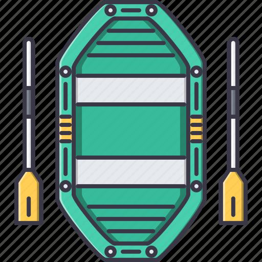 boat, camping, fishing, holidays, paddle, tour, travel icon