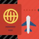 journey, passport, ticket, tourist, transport, travel icon