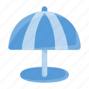 beach, beach umbrella, holiday, summer, travel, umbrella, vacation icon