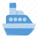 boat, cruise, cruise ship, ship, transport, travel, vessel icon