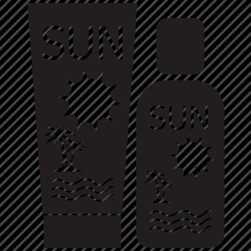 cream, holiday, lotion, summer, sunscreen, suntan cream, swimsuit icon