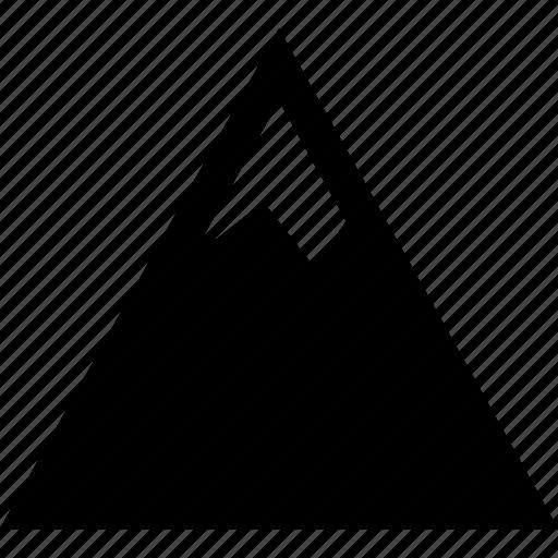 cold, mountain, peak, travel icon