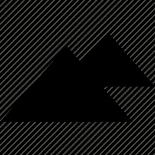 egypt, giza, pyramids icon