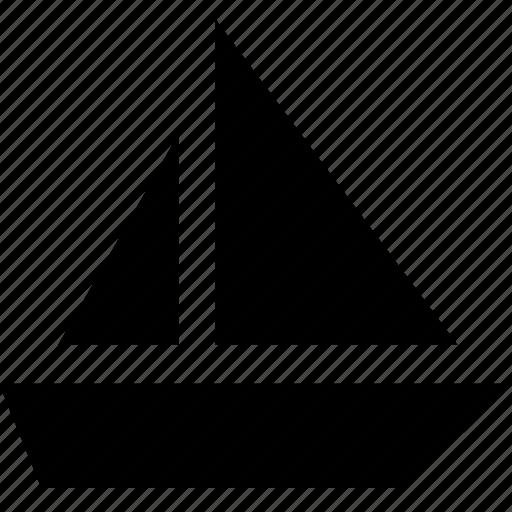 boat, sail, sailing, water icon