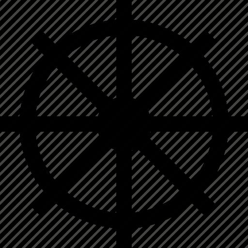 ship, spin, stear, wheel icon
