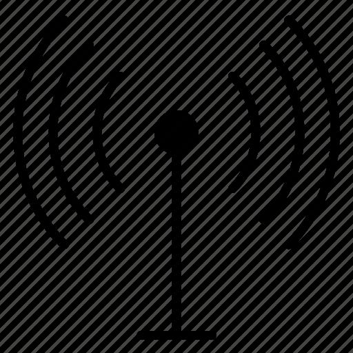antenna, broadcast, signal, tower, travel, wireless icon