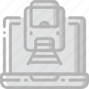 booking, journey, online, tourist, train, transport, travel icon