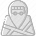 bus, journey, location, tourist, transport, travel icon