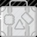 journey, suitcase, tourist, transport, travel icon