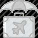 insurance, journey, tourist, transport, travel icon