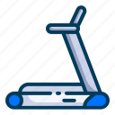 a fitness center, gym, holiday, hotel, travel, traveling, treadmill icon