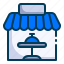 cafe, food court, holiday, hotel, restaurant, travel, traveling icon