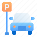 parking, traveling, holiday, sign, travel, hotel, car icon