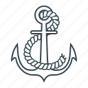 anchor, boat, port, ship icon