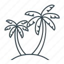 beach, palm, palm trees, trees icon