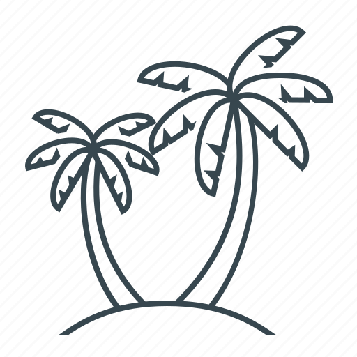 beach, palm, palm trees, trees icon