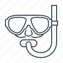 diving, diving equipment, diving glasses, free diving, scuba icon