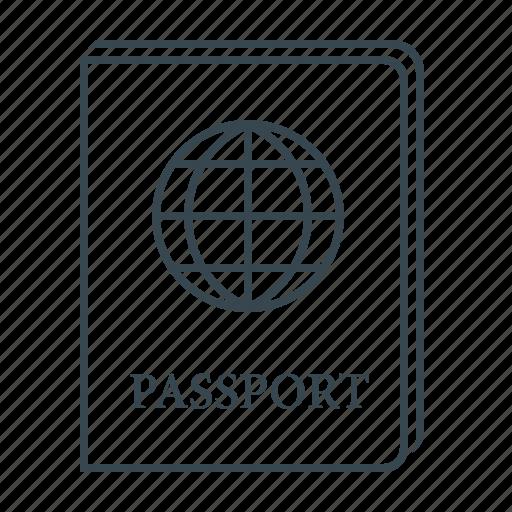 document, international, international passport, passport icon