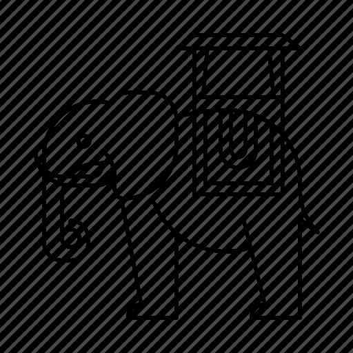 animal, animals, conveyor, elephant, wild, zoo icon