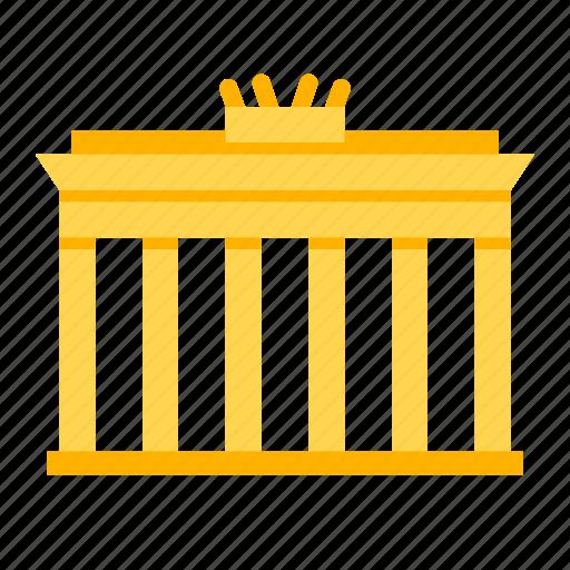 berlin, brandenburg, entrance, gate, german, germany, landmark icon