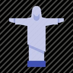 brazil, christ, jesus, redeemer, rio, statue, the icon