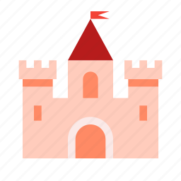building, castle, knight, tower icon