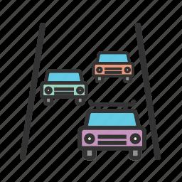 city, freeway, highway, road, speed, traffic, travel icon