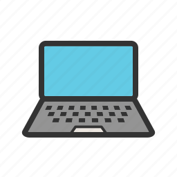internet, journey, laptop, office, tour, travel, web icon