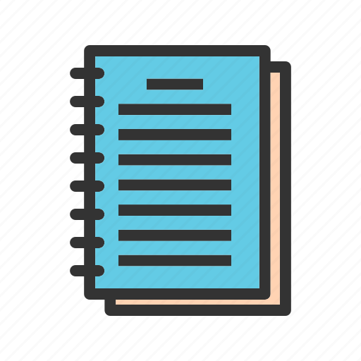 document, notebook, notepad, notes, pencil, travel icon