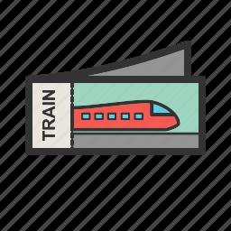 booking, journey, plane tickets, tickets, train tickets, travel icon
