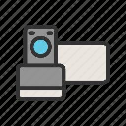 camera, digital, film, image, lens, travel, video icon