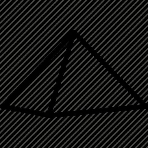 egypt, egyptian, giza, landmark, monument, polyhedron, pyramid icon