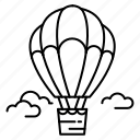 air, air balloon, balloon, transport, travel, trip, vacation icon