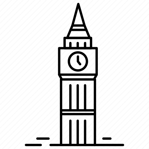 big ben, england, landmark, london, tourism, travel, vacation icon