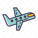 aeroplane, aircraft, airplane, flight, fly, plane icon