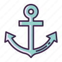 anchor, sea icon
