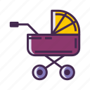 baby carriage, baby stroller, carriage, stroller icon
