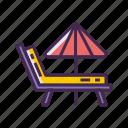 beach, beach chair, chair, pool chair icon