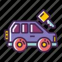 car, car key, rental car icon