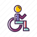 disability, disabled, oku, wheelchair icon