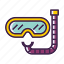diving, diving goggles, diving mask, mask icon