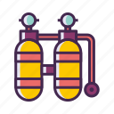 diving, diving tank, oxygen, oxygen tank icon