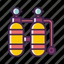 diving, diving tank, oxygen, oxygen tank